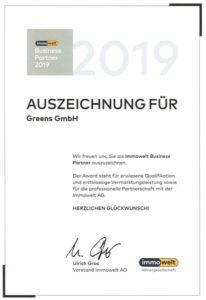 immowelt award greens